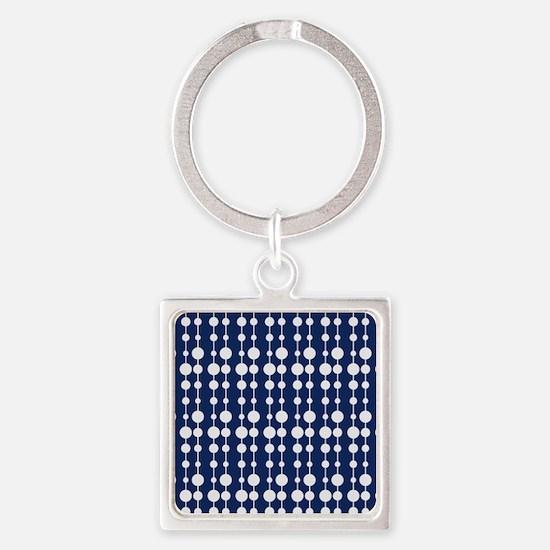 Polka Dots Pendant Pattern Square Keychain