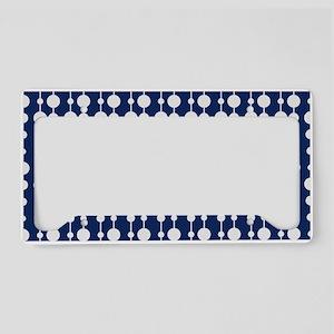 Polka Dots Pendant Pattern License Plate Holder