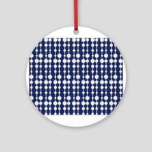 Polka Dots Pendant Pattern Ornament (Round)