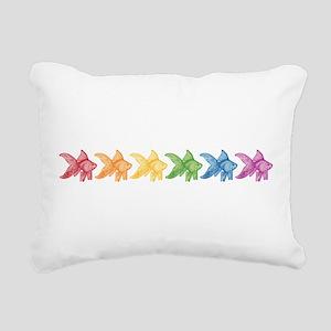 Rainbow Goldfish Rectangular Canvas Pillow