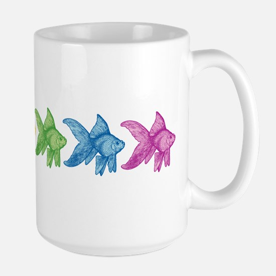 Rainbow Goldfish Mugs