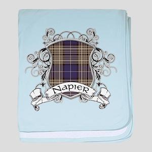 Napier Tartan Shield baby blanket