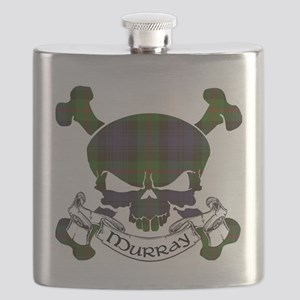 Murray Tartan Skull Flask