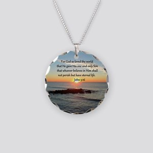 JOHN 3:16 Necklace Circle Charm