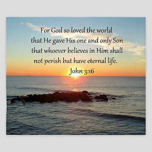 JOHN 3:16 King Duvet
