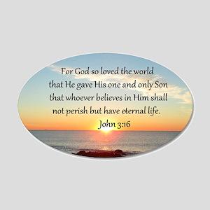 JOHN 3:16 20x12 Oval Wall Decal