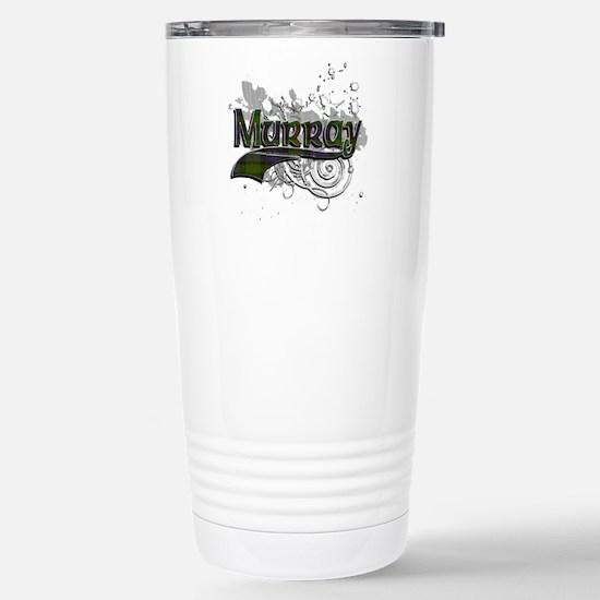 Murray Tartan Grunge Stainless Steel Travel Mug