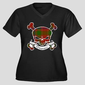Munro Tartan Women's Plus Size V-Neck Dark T-Shirt