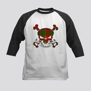 Munro Tartan Skull Kids Baseball Jersey