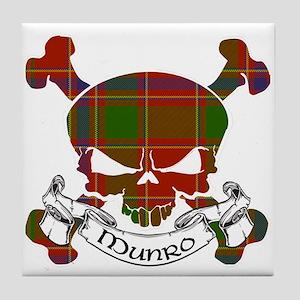 Munro Tartan Skull Tile Coaster