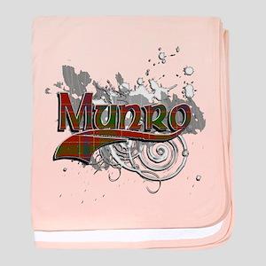 Munro Tartan Grunge baby blanket