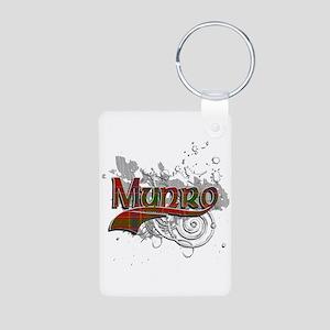 Munro Tartan Grunge Aluminum Photo Keychain