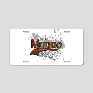 Munro Tartan Grunge Aluminum License Plate