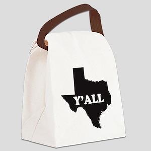 Texas Yall Canvas Lunch Bag