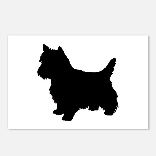 Cairn Terrier Black 2 Postcards (Package of 8)