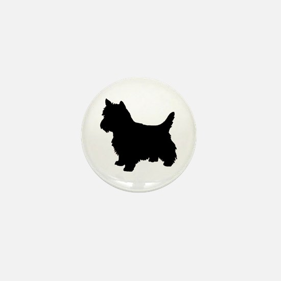 Cairn Terrier Black 2 Mini Button