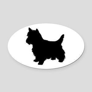 Cairn Terrier Black 2 Oval Car Magnet