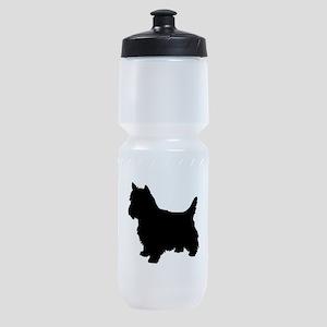 Cairn Terrier Black 2 Sports Bottle