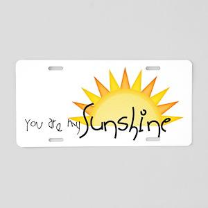 Sunshine4 Aluminum License Plate