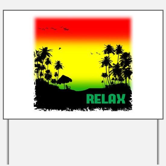 rasta relax Yard Sign
