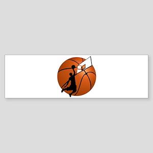Slam Dunk Basketball Player w/Hoop on Ball Bumper