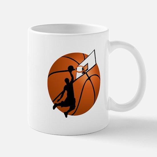 Slam Dunk Basketball Player w/Hoop on Ball Mugs