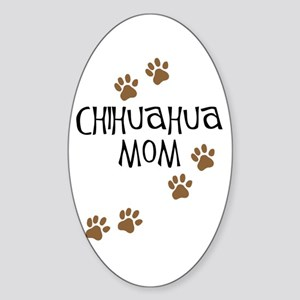 Chihuahua Mom Oval Sticker