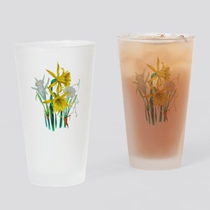 Daffodils and Narcissus by Loudon Drinking Glass