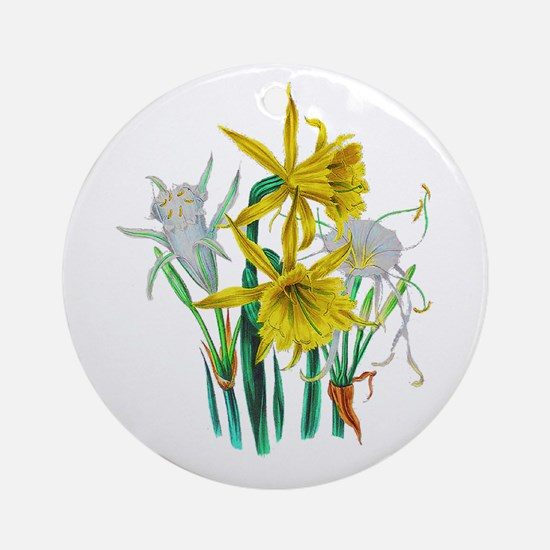 Daffodils and Narcissus by Loudon Ornament (Round)