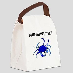 Custom Blue Crab Canvas Lunch Bag