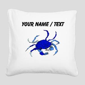 Custom Blue Crab Square Canvas Pillow