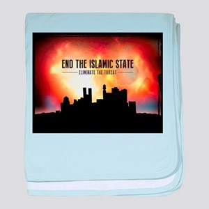 End The Islamic State baby blanket
