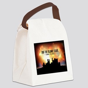 End The Islamic State Canvas Lunch Bag