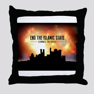 End The Islamic State Throw Pillow