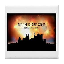End The Islamic State Tile Coaster