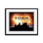 End The Islamic State Framed Panel Print