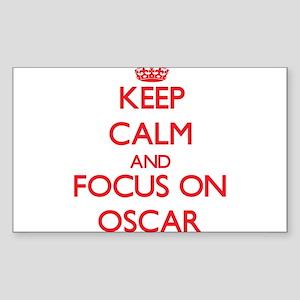 Keep Calm and focus on Oscar Sticker