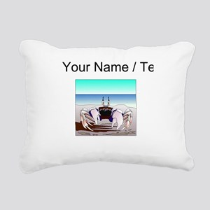 Custom Beach Crab Rectangular Canvas Pillow