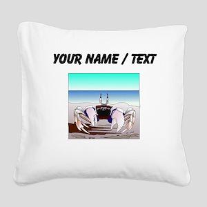 Custom Beach Crab Square Canvas Pillow