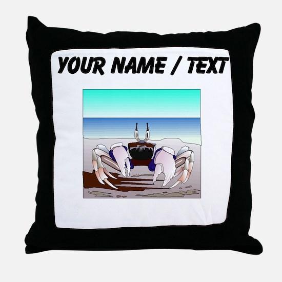 Custom Beach Crab Throw Pillow