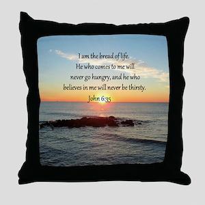 JOHN 6:35 Throw Pillow