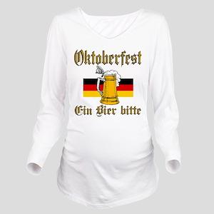 ein beer Long Sleeve Maternity T-Shirt