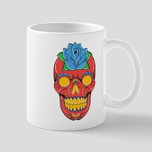 Red Sugar Skull Mugs