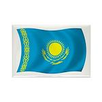 Kazakhstan Flag Rectangle Magnet (100 pack)