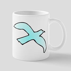 Blue Dove Flying Mugs
