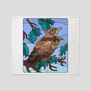 Cuckoo Chick Throw Blanket