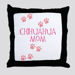 Pink Chihuahua Mom Throw Pillow
