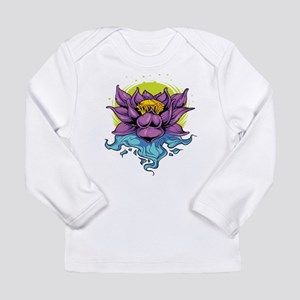 Purple Lotus Long Sleeve T-Shirt