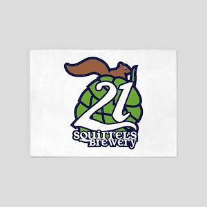 21 Squirrels Brewery Logo 5'x7'Area Rug