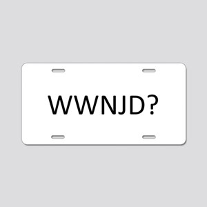 What Would Network Jesus Do Aluminum License Plate
